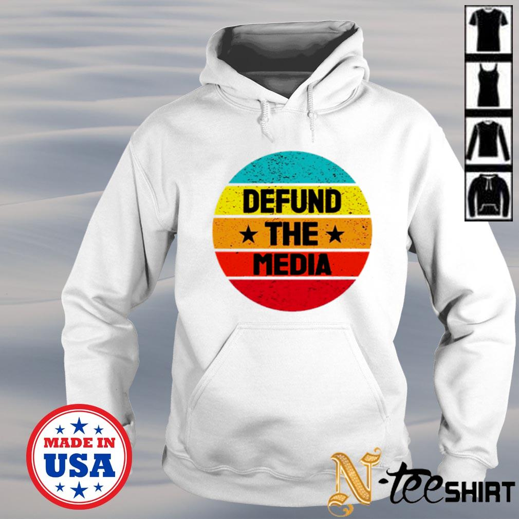 Defund the media Anti fake news vintage s hoodie