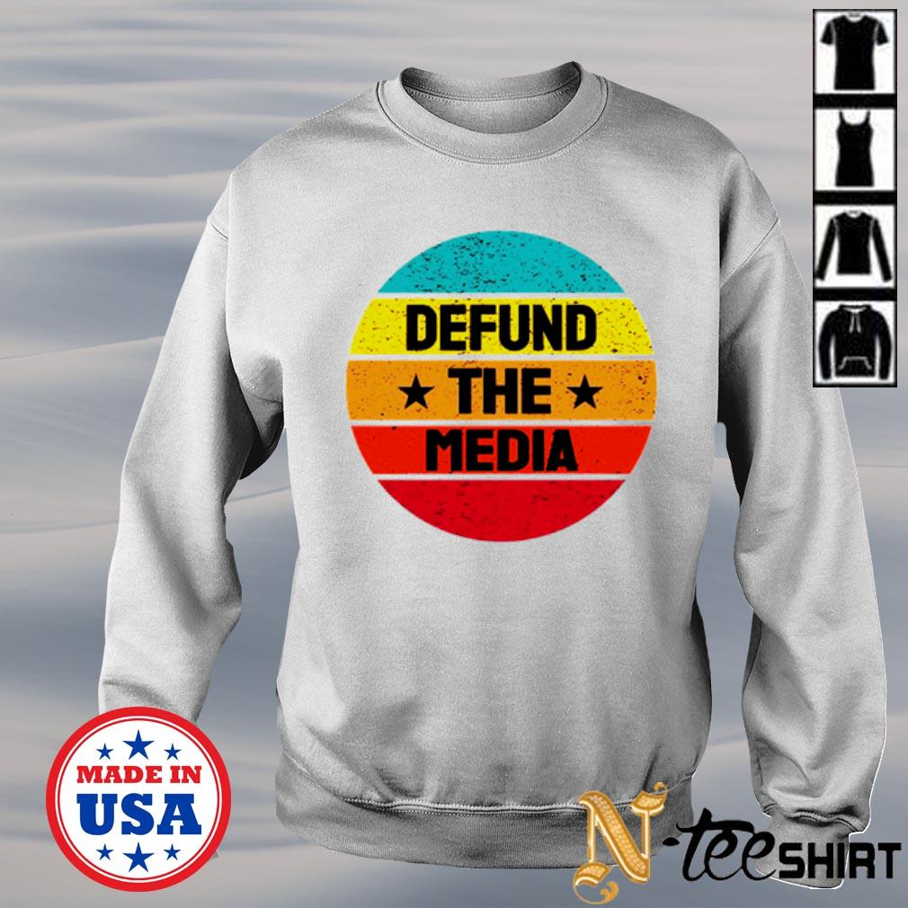 Defund the media Anti fake news vintage s sweater