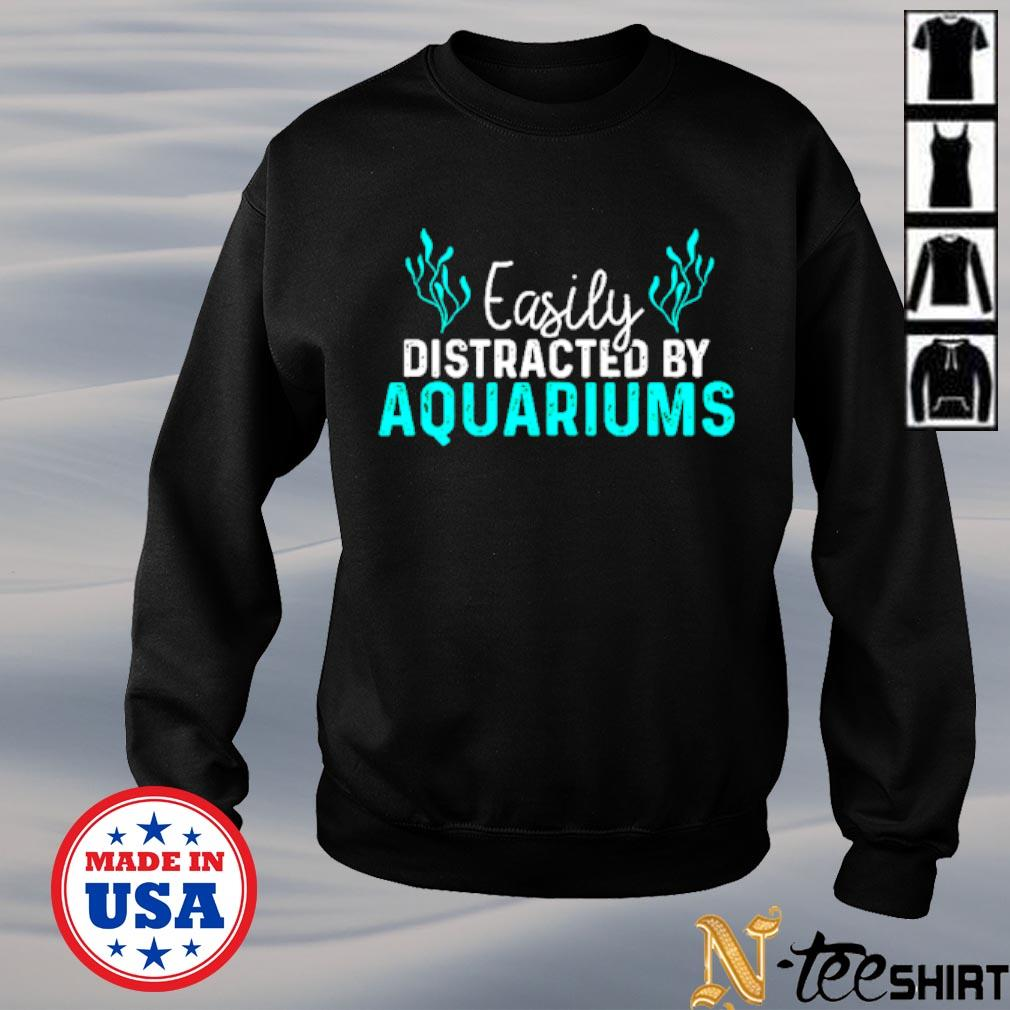 Easily distracted by aquariums s sweater