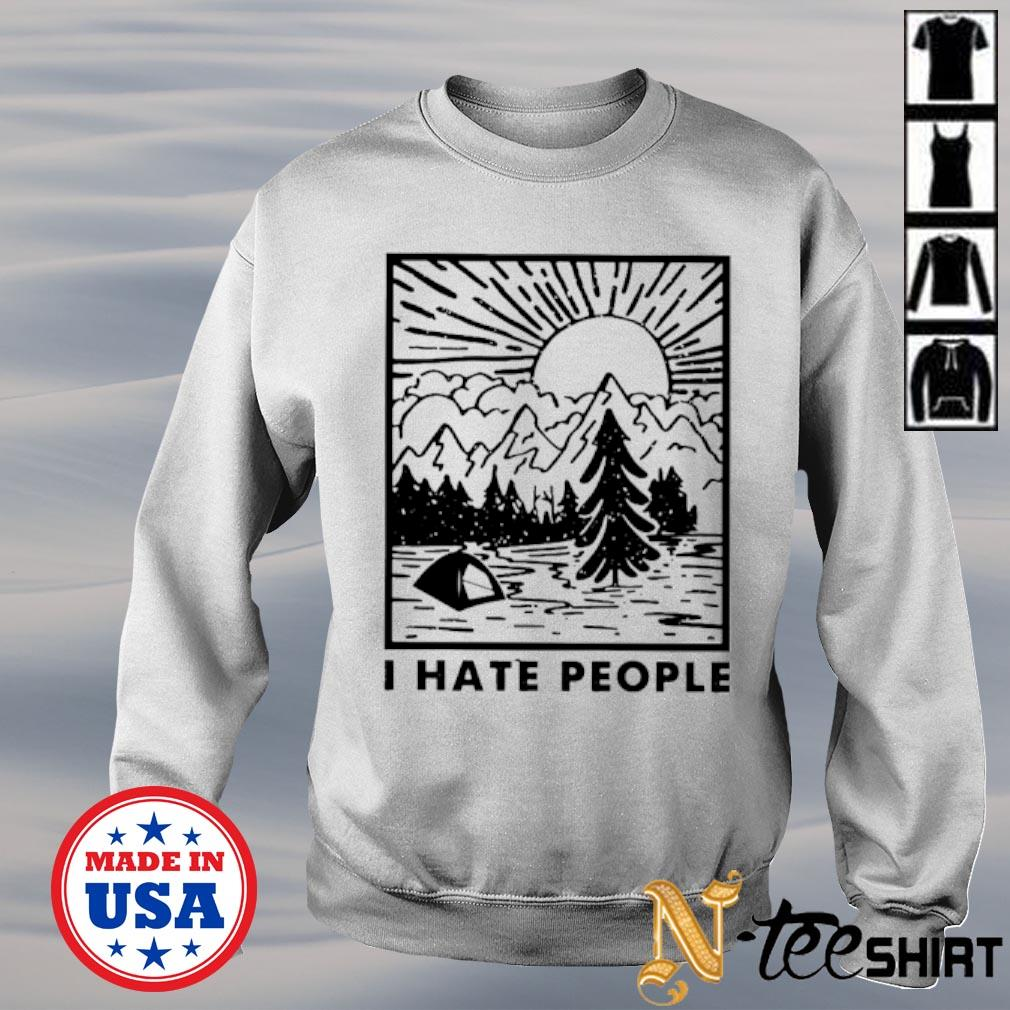 I hate people love camping s sweater