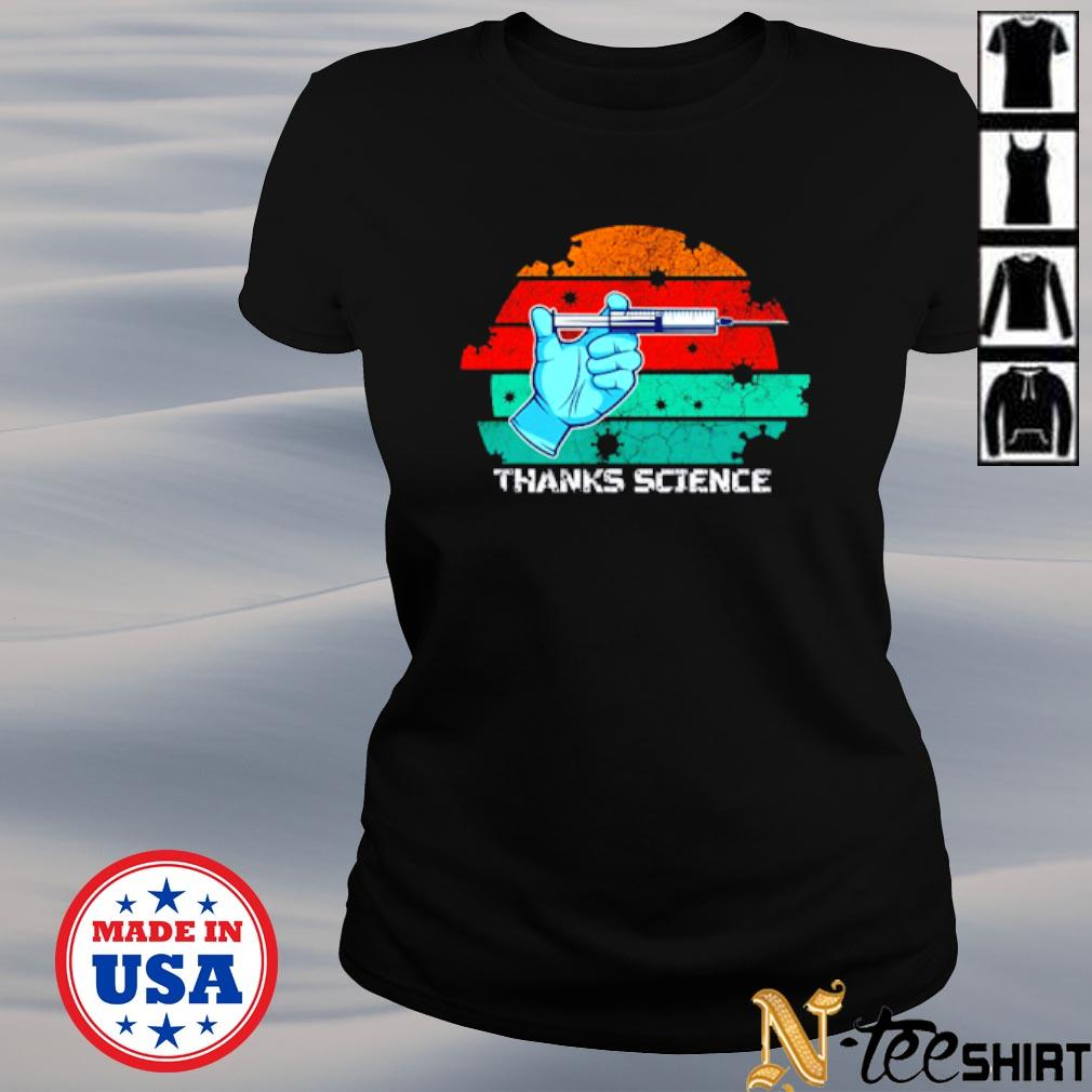 Thanks Science pro vaccine vaccination vintage s ladies-tee