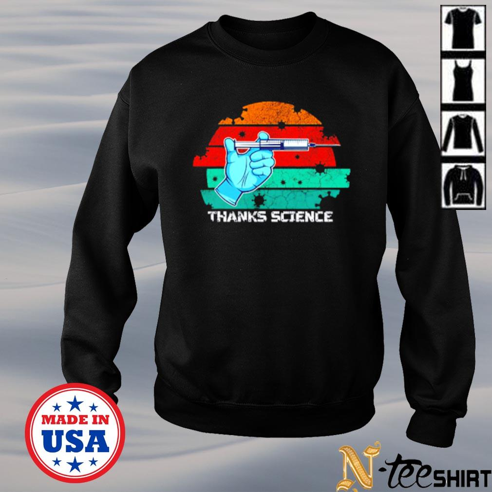 Thanks Science pro vaccine vaccination vintage s sweater