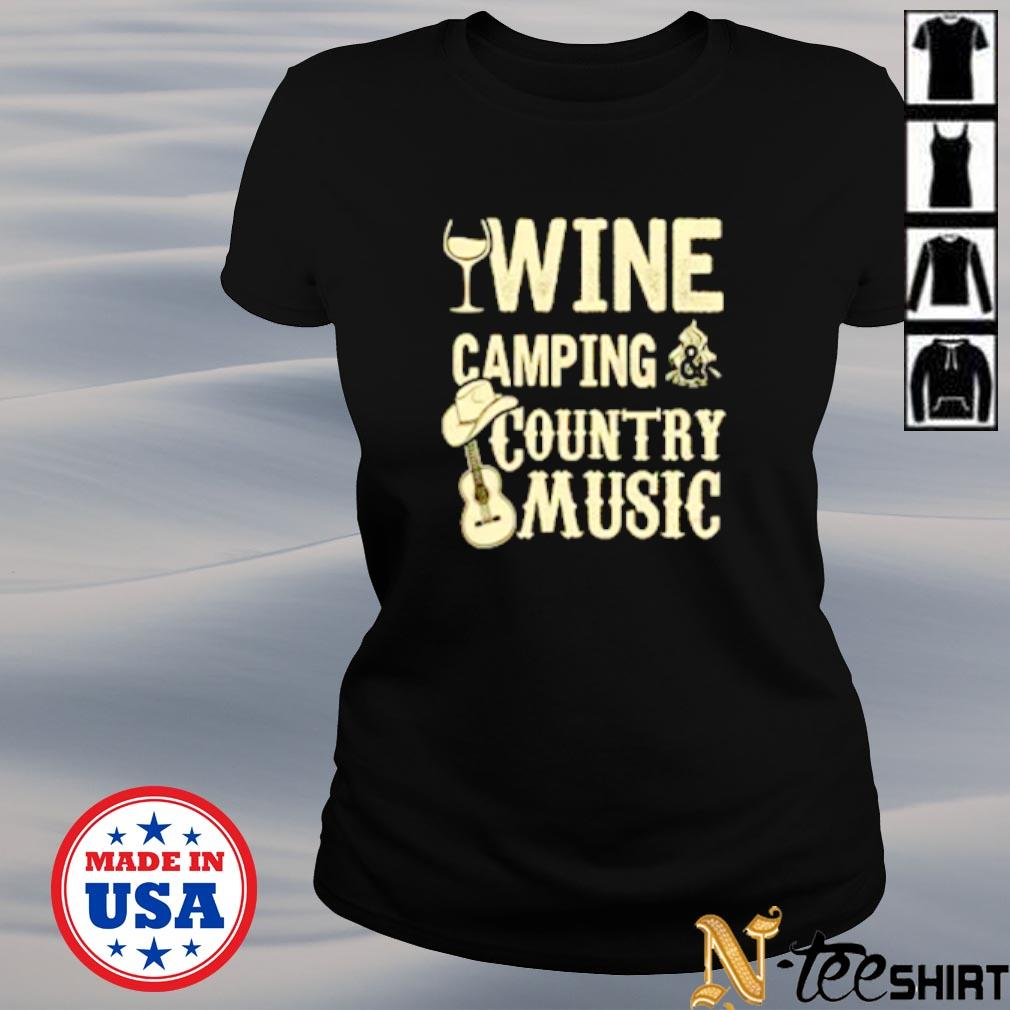 Wine camping country music s ladies-tee
