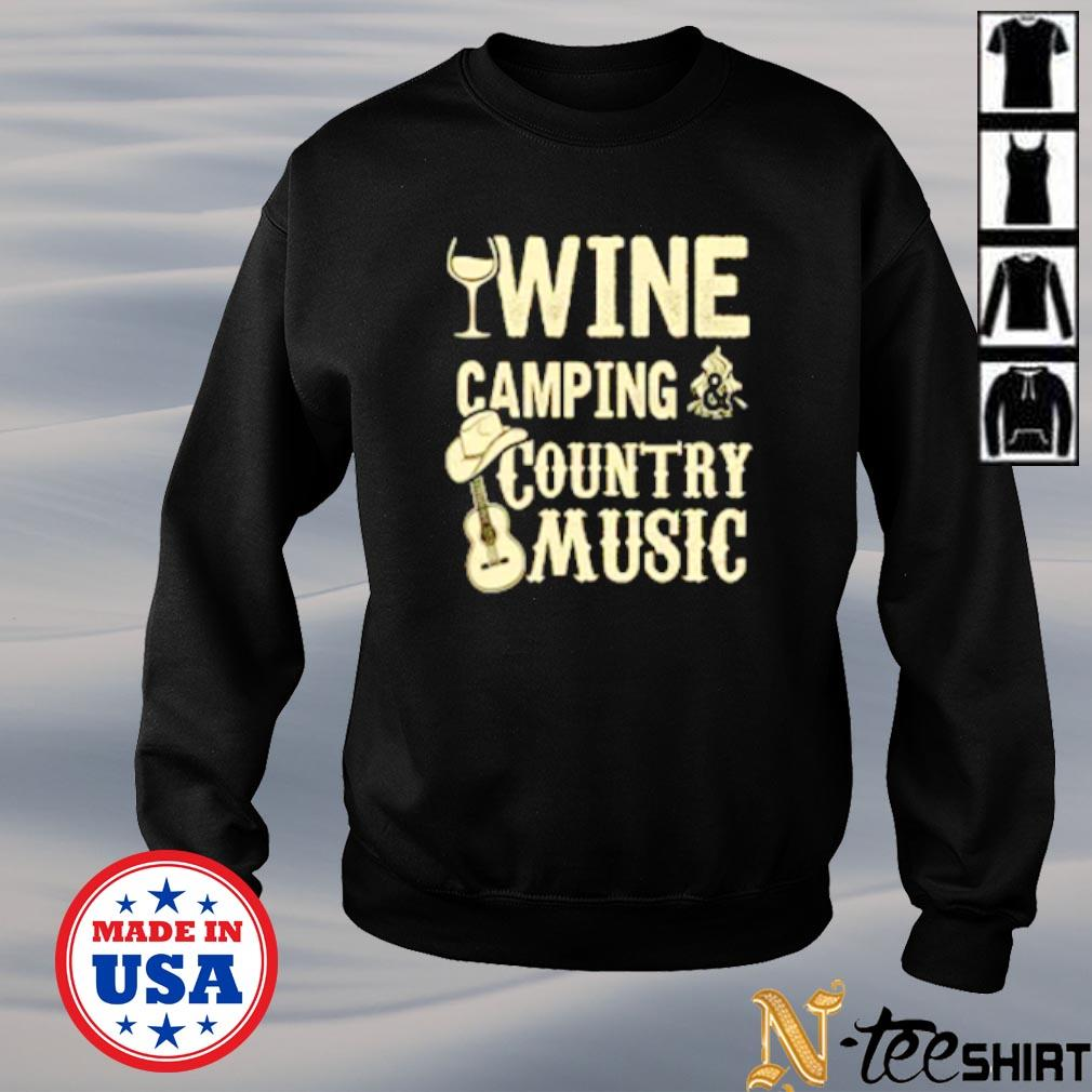 Wine camping country music s sweater
