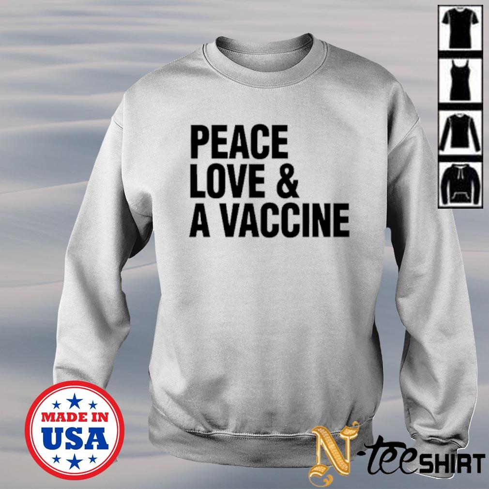 Peace love and a vaccine sweater