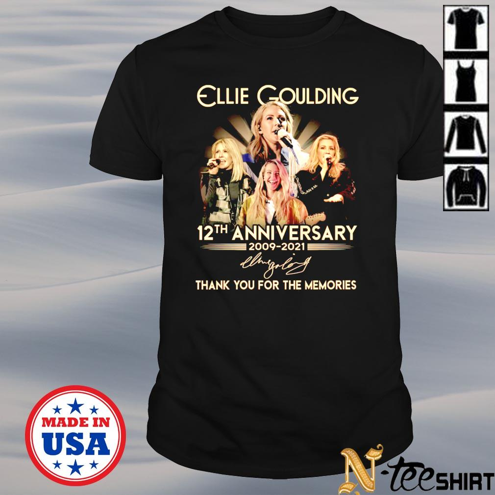 Ellie Goulding 12th anniversary 2009-2021 signature shirt