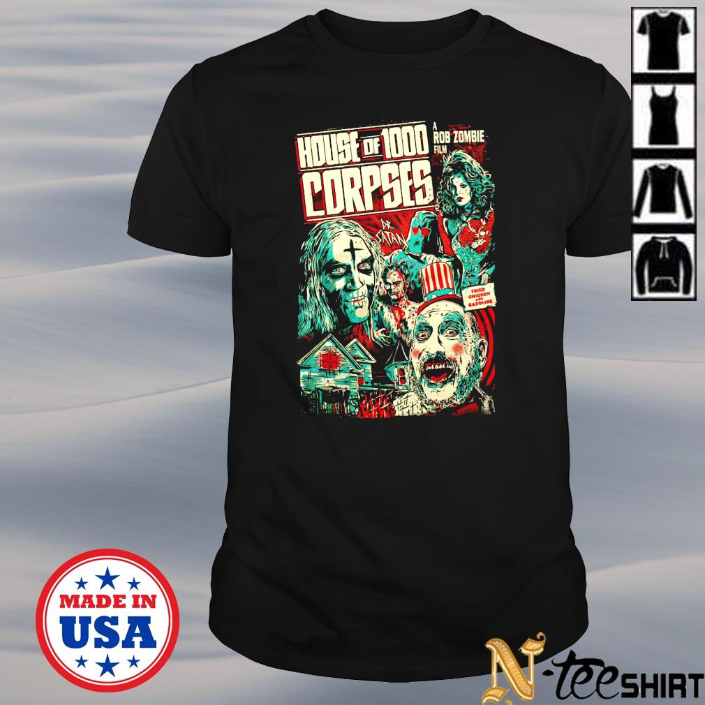 House of 1000 a Rob Zombie Corpses shirt