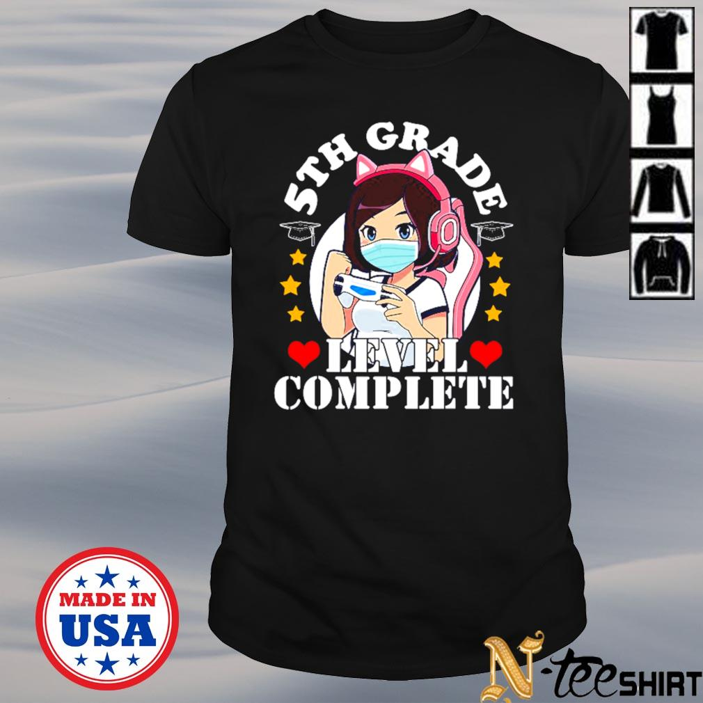 5th grade level complete 2021 graduation anime gaming girls shirt