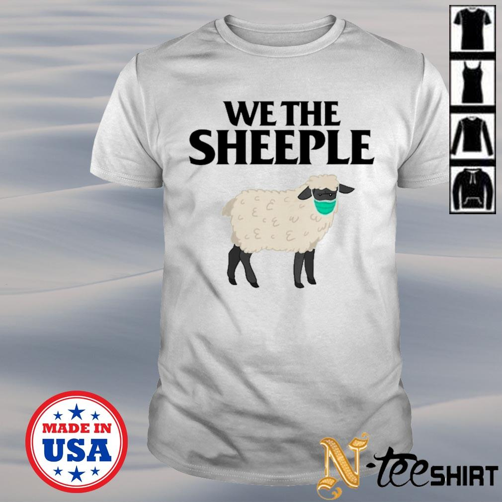 We the Sheeple Sheep with face mask shirt