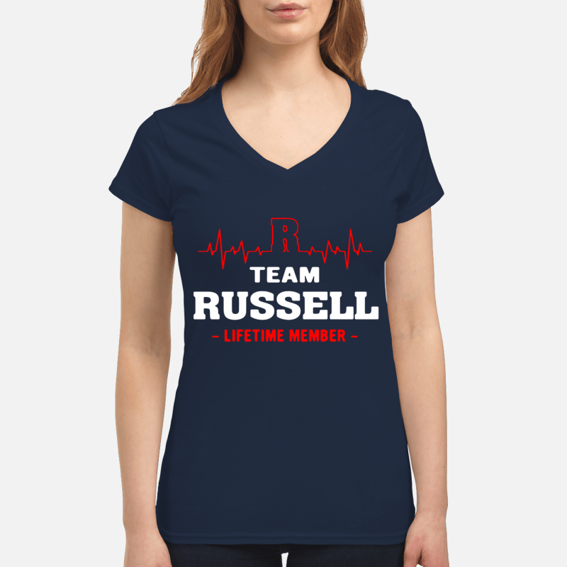 Team Russell life time member V-neck t-shirt