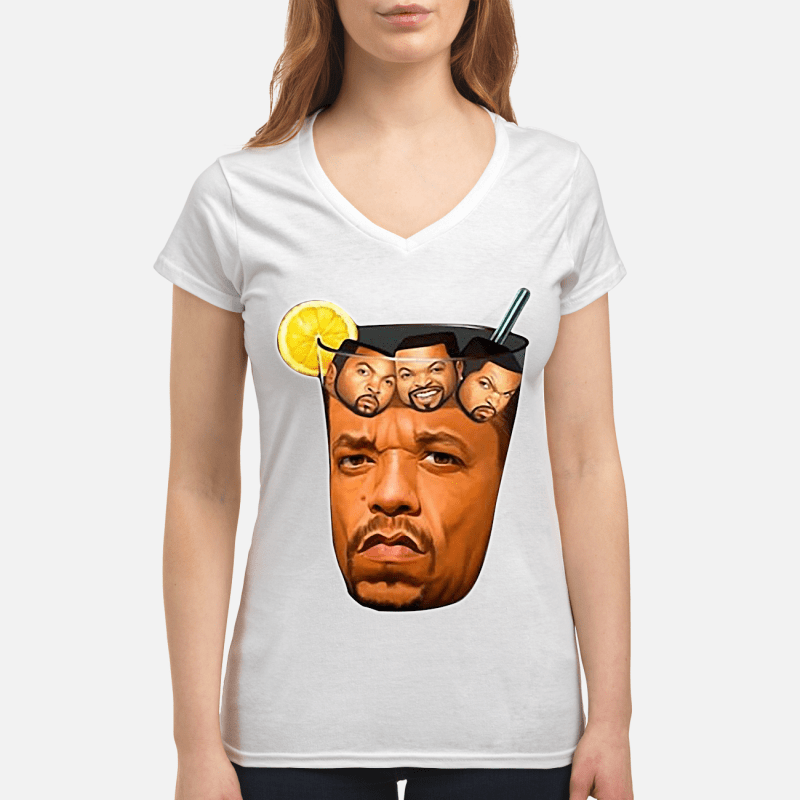 Ice tea with ice Cube V-neck t-shirt