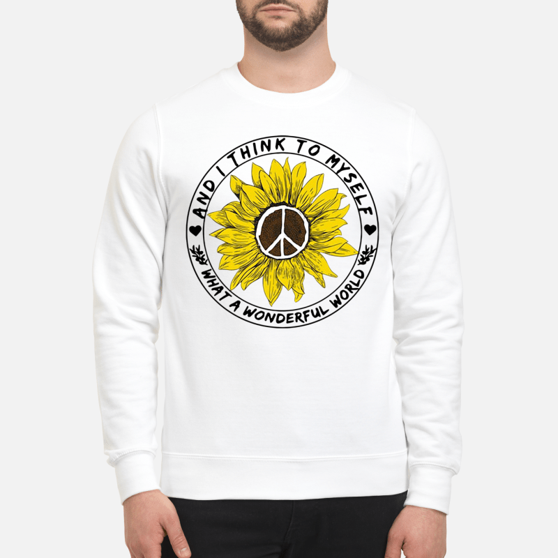 What A Wonderful World Sunflower Sweater