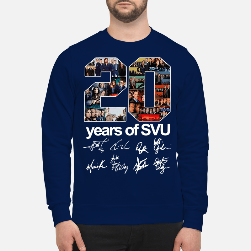 20 years of SVU Law and Order all signatures Sweater