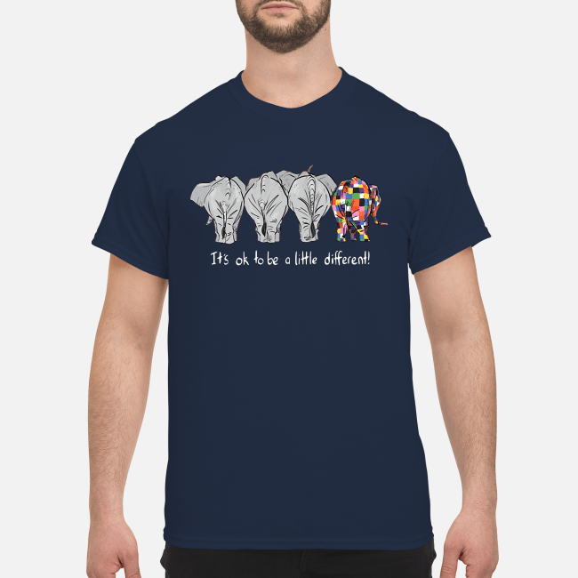 Autism elephant it's ok to be a little different Shirt