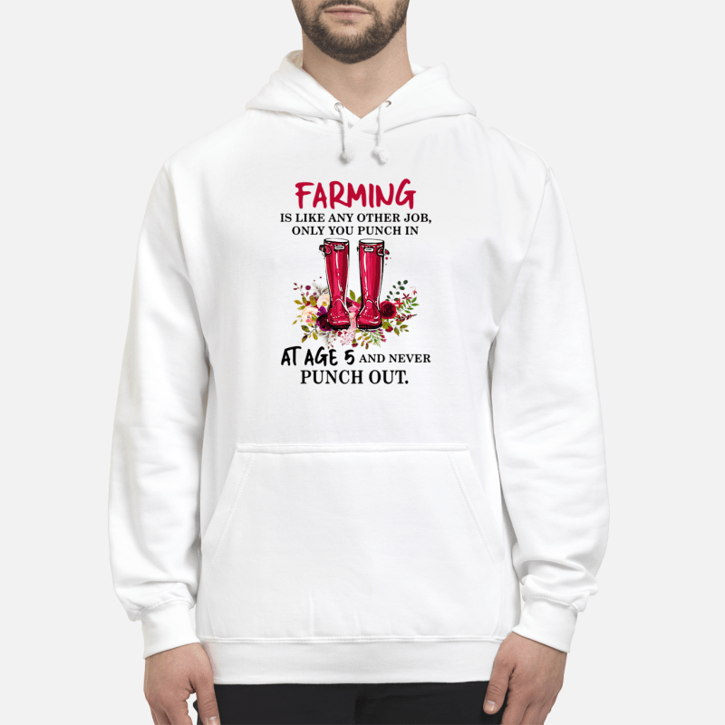 Boot flowers farming is like any other job only you punch Hoodie