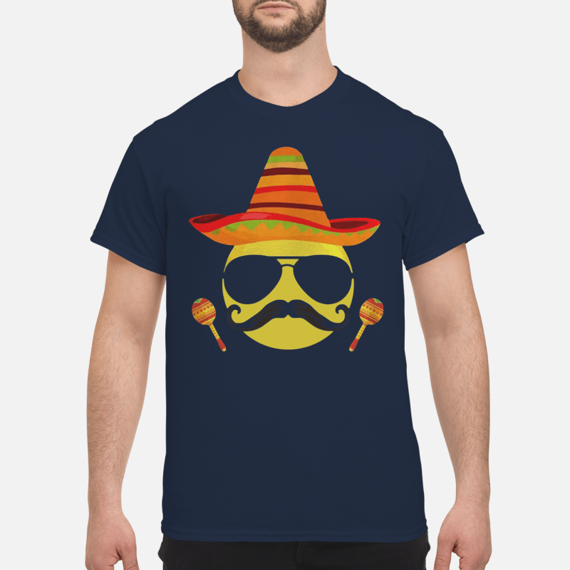 Emoji sombrero cool sunglasses Cinco de Mayo Shirt