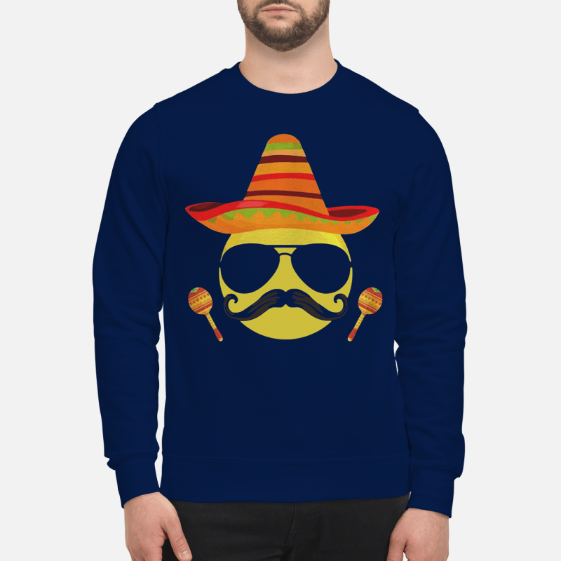 Emoji sombrero cool sunglasses Cinco de Mayo Sweater