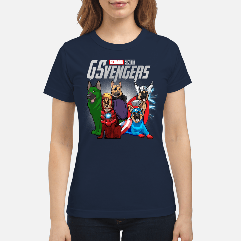 Official Marvel German Shepherd GSvengers Ladies Tee