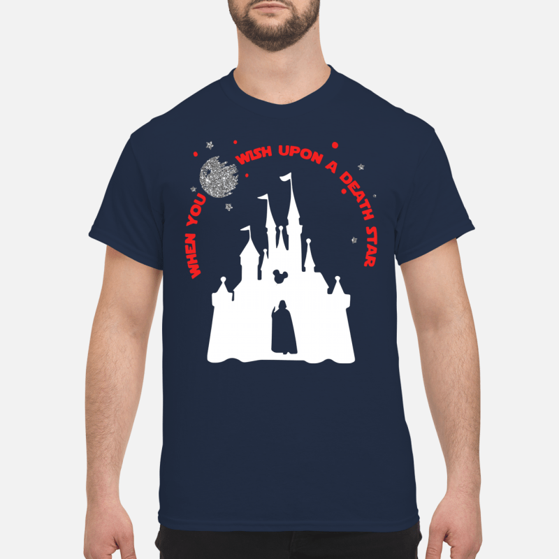 Vader Star wars and Castle Disney when you wish Shirt