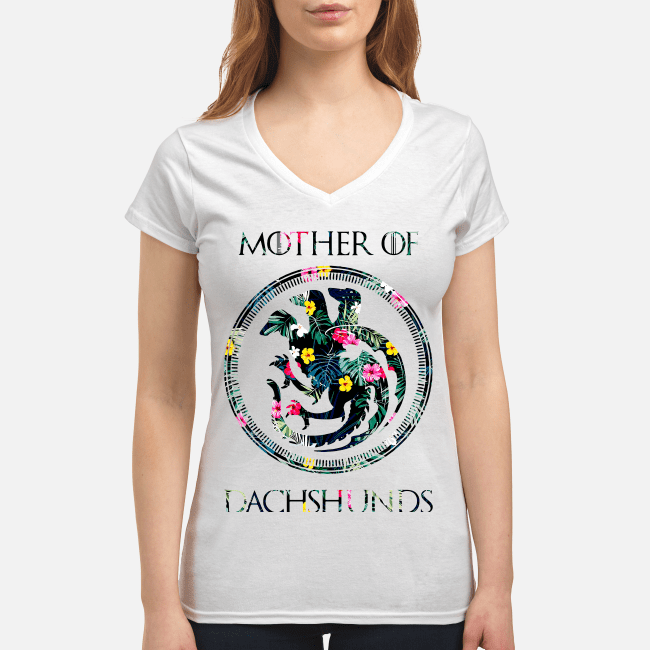 Game of Thrones mother of dachshunds V-neck t-shirt