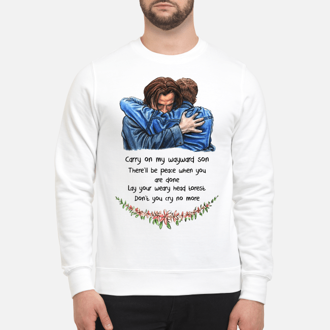 Jared Padalecki carry on my wayward son there'll be peace Sweater