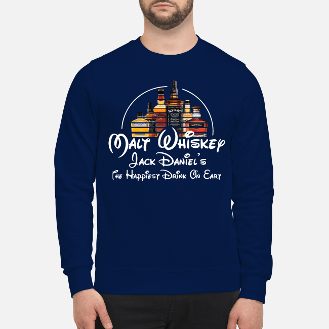 Malt Whiskey Jack Daniel's the happiest drink on earth Sweater