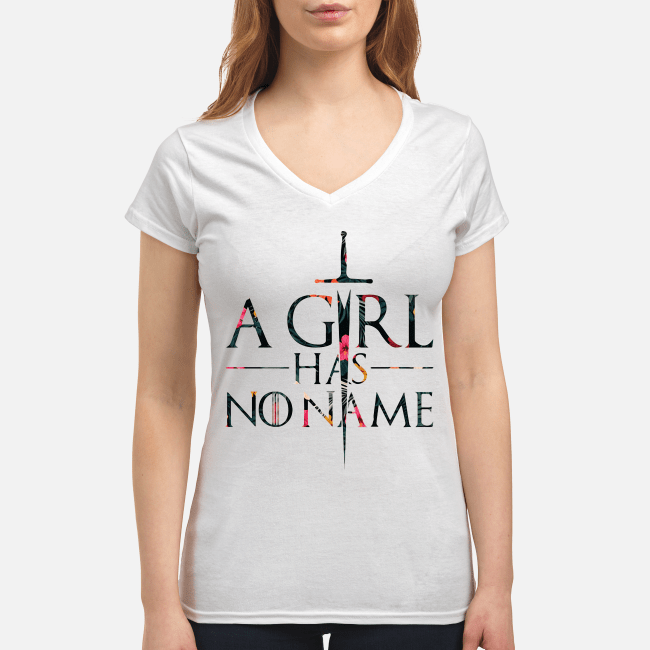 Game of Thrones a girl has no name V-neck t-shirt
