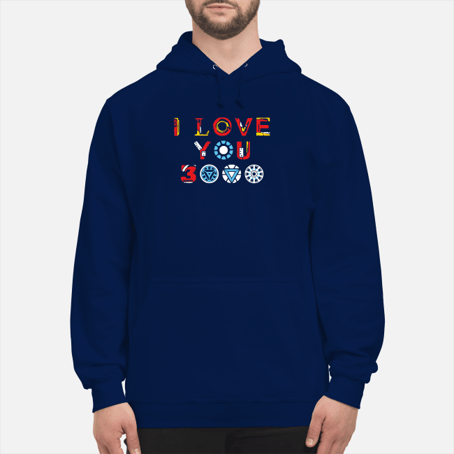 I love you 3000 Avengers Endgame Hoodie