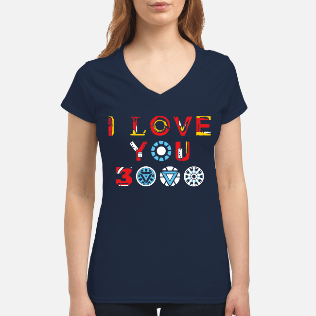 I love you 3000 Avengers Endgame V-neck t-shirt
