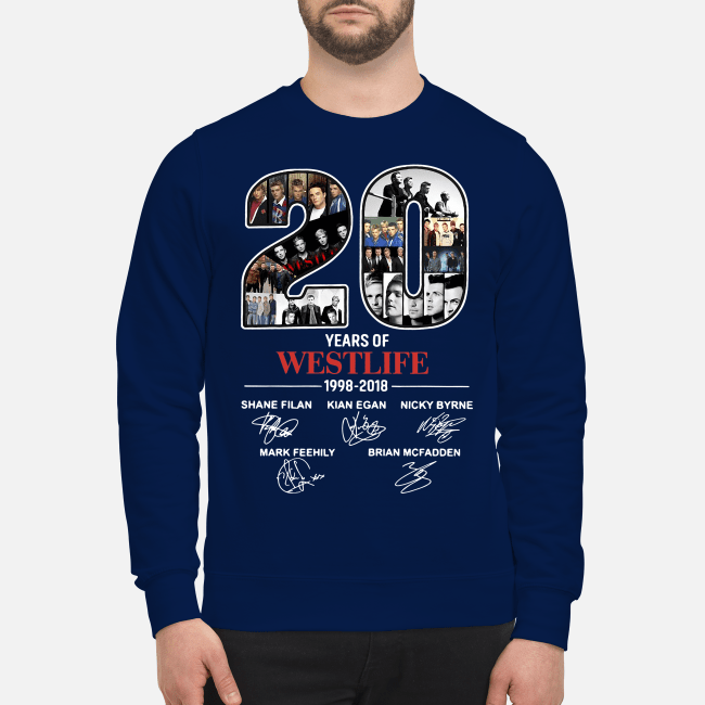 20 Years of Westlife 1998-2018 signatures Sweater