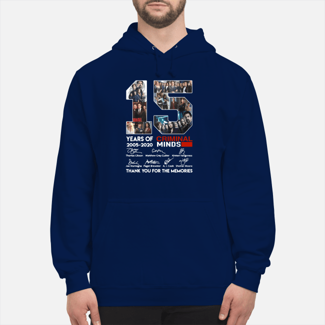 15 years of Criminal Minds 2005-2020 thank you for the memories Hoodie