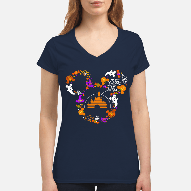 Halloween Walt Disney Mickey mouse V-neck t-shirt