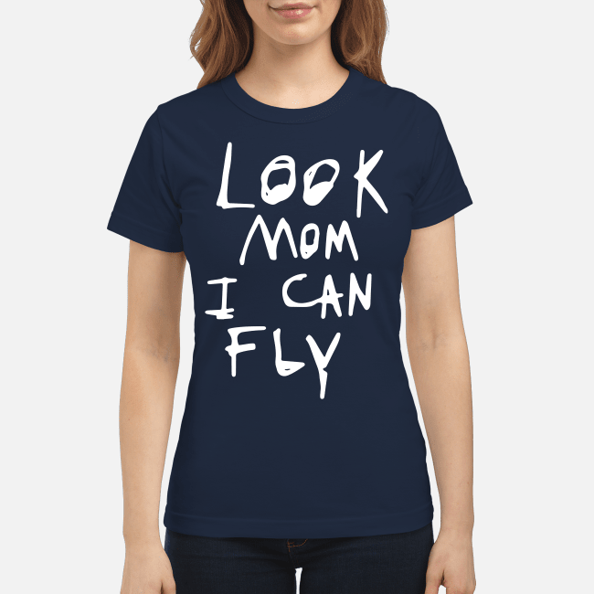 Look Mom I can fly Ladies Tee