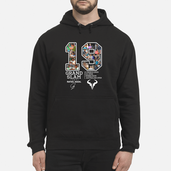 Official Rafael Nadal 19 Grand Slam 12 French open signature Hoodie