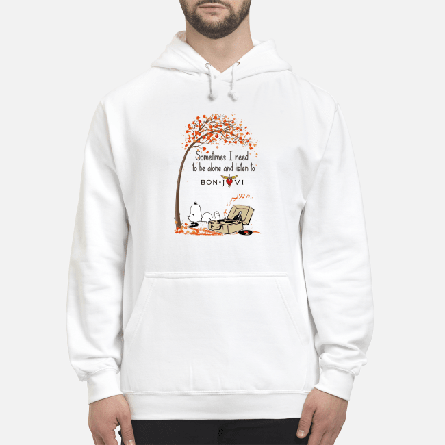 Official Snoopy sometimes I need to be alone and listen to Bon Jovi Hoodie