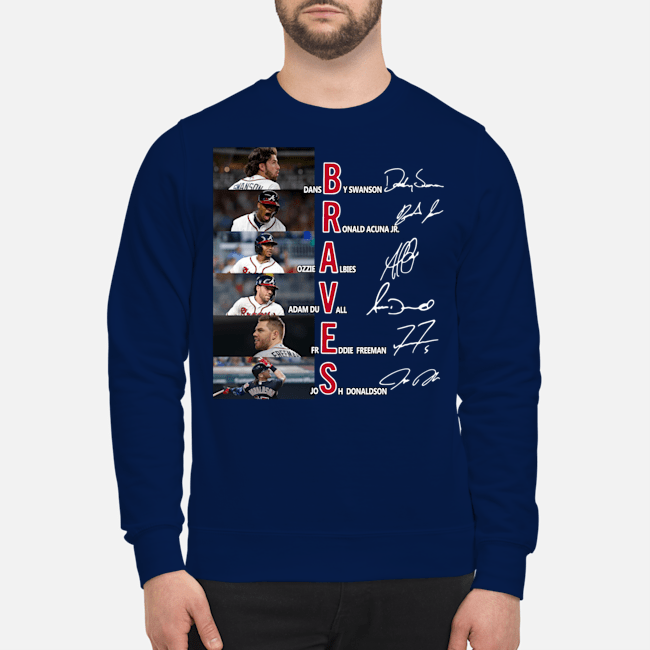 Official Braves Dansby Swanson Ronald Acuna Jr. Ozzie Albies signatures Sweater