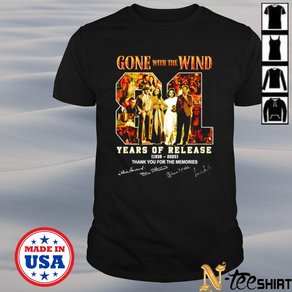 Official Gone With the Wind 81 years of release 1939-2020 thank you for the memories shirt