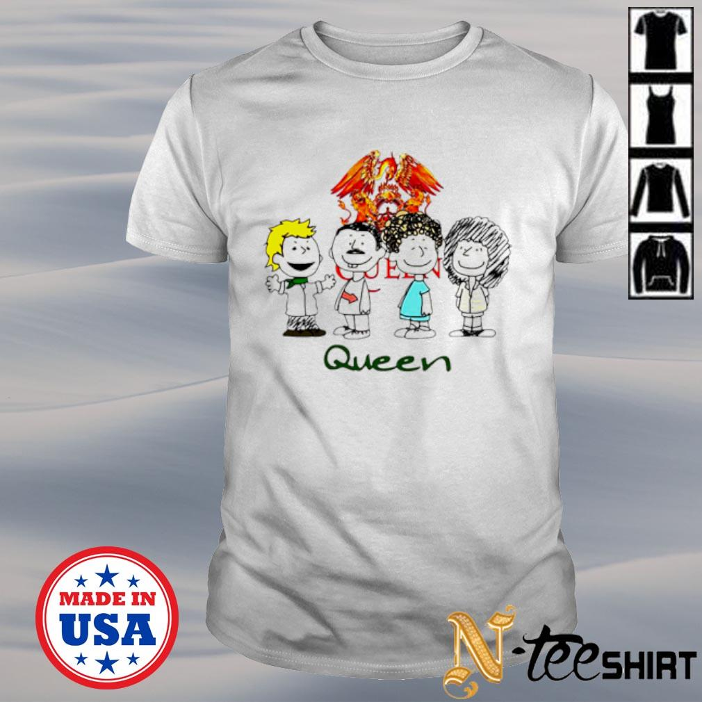 The Peanuts characters Queen shirt