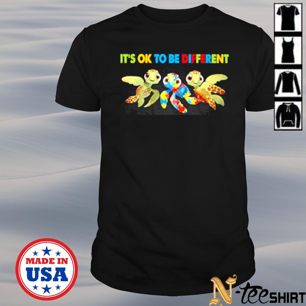 Turtle Autism it's ok to be different shirt