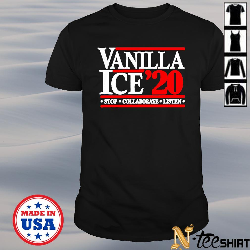Vanilla Ice' 20 stop collaborate listen black shirt