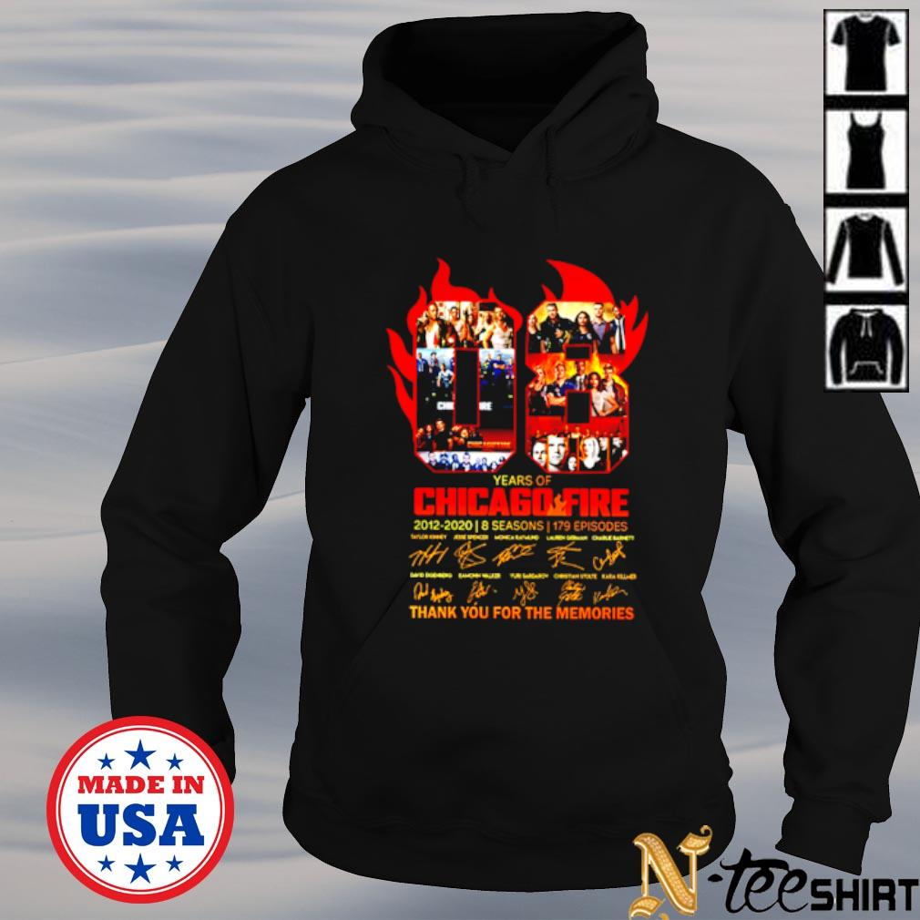 08 years of Chicago Fire signatures thank you for the memories s hoodie