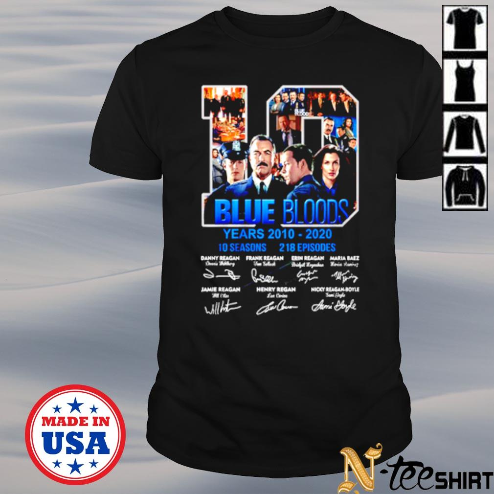 10 years of Blue Bloods 2010 2020 10 seasons 218 episodes signature shirt