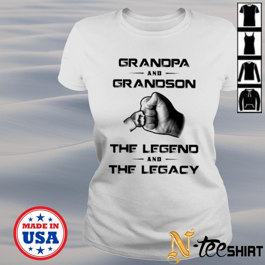 Grandpa and grandson the legend and the legacy s ladies-tee