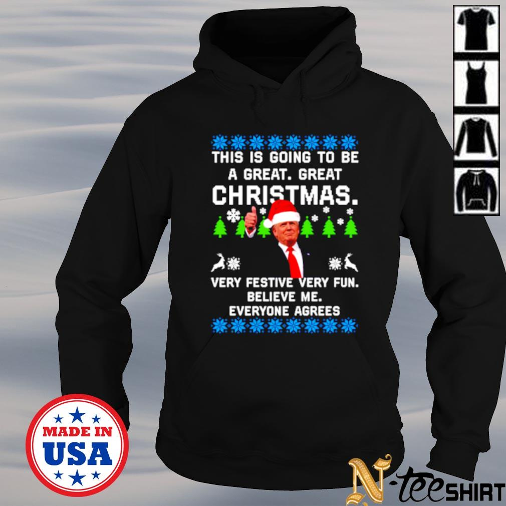 Donald Trump this is going to be a great great Christmas ugly s hoodie