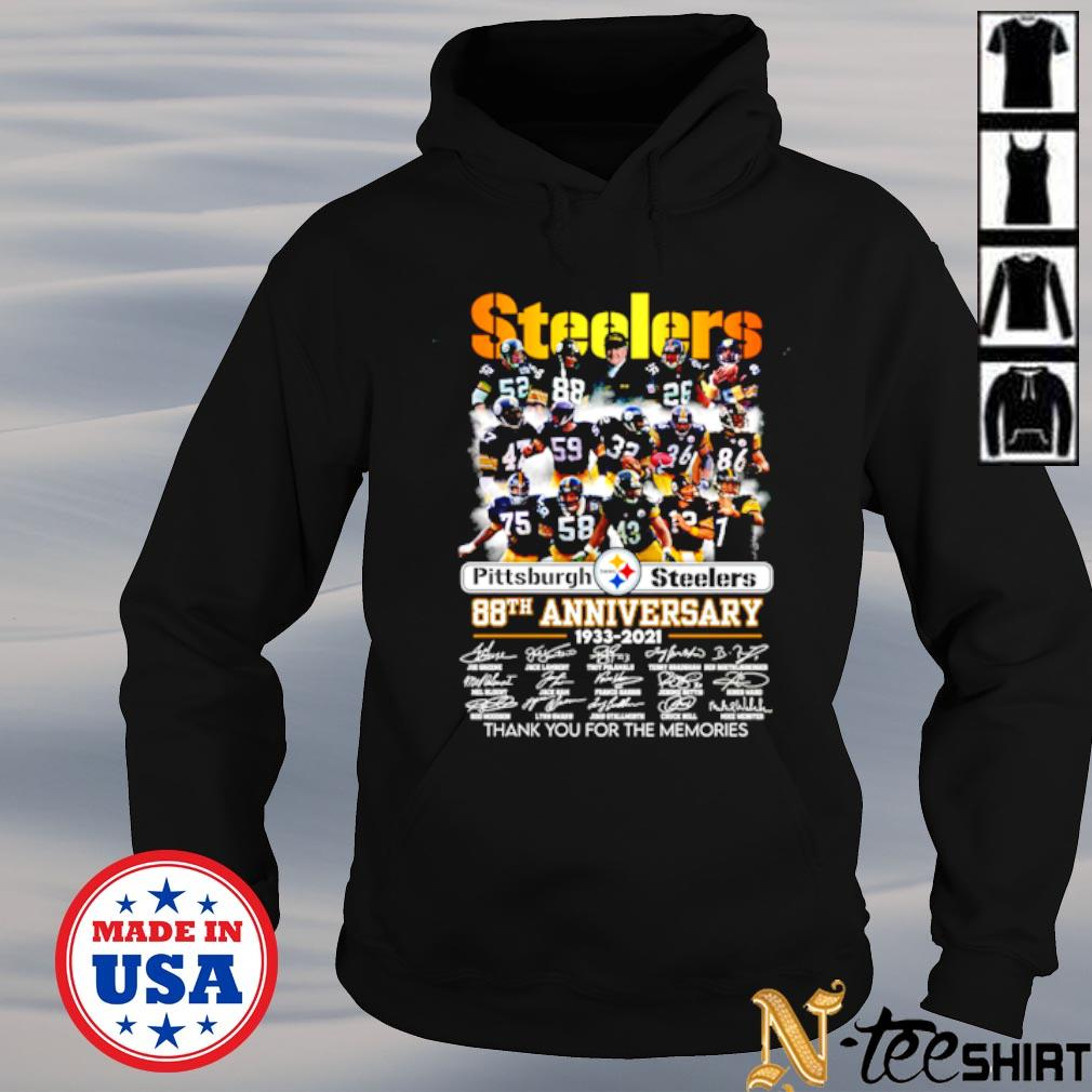 Pittsburgh Steelers 88th anniversary 1933 2021 signature thank you for the memories s hoodie