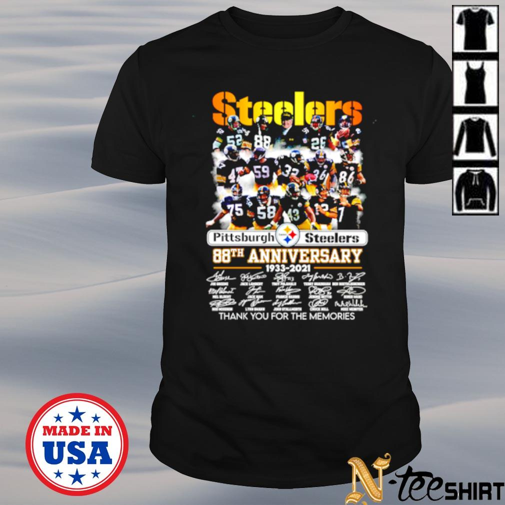 Pittsburgh Steelers 88th anniversary 1933 2021 signature thank you for the memories shirt