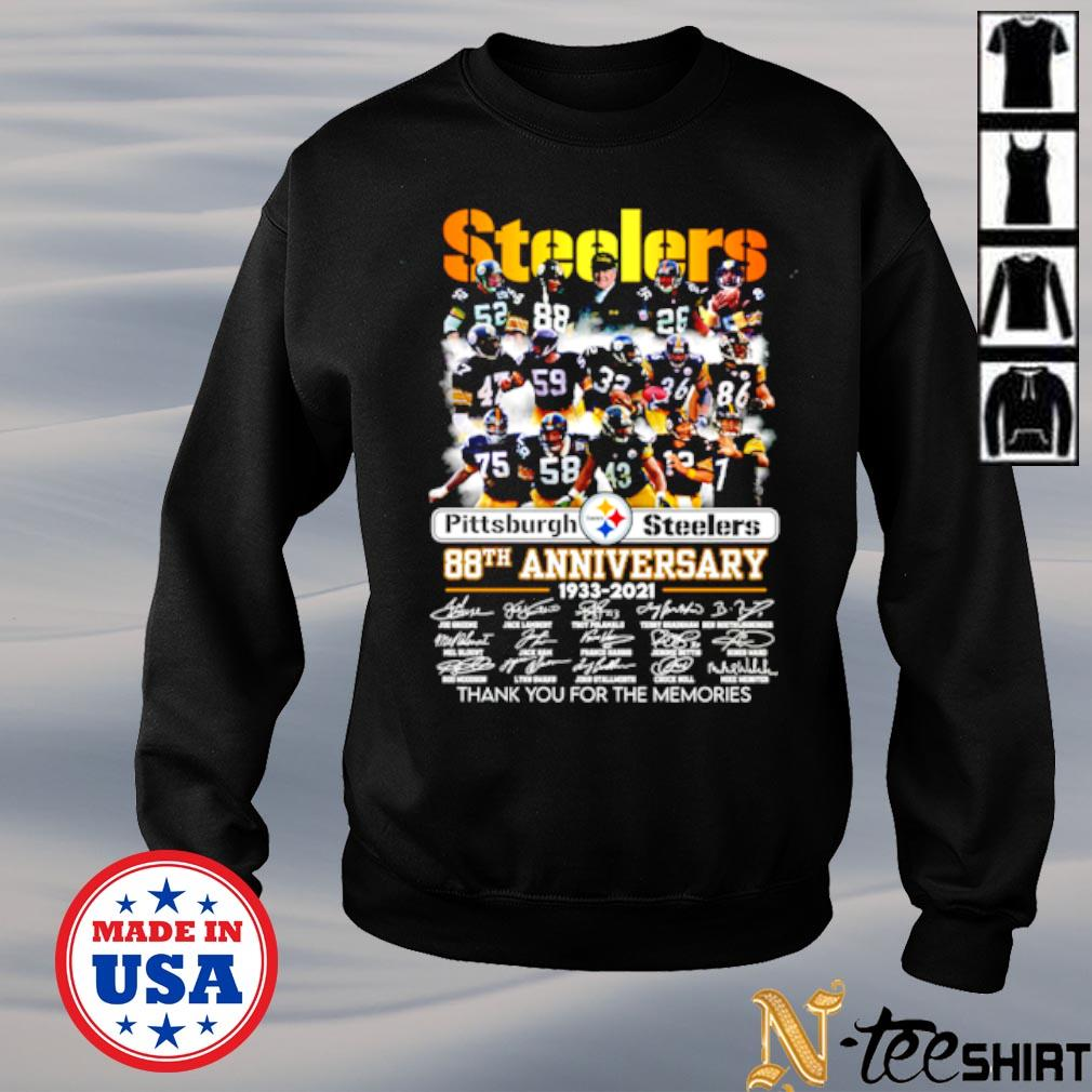 Pittsburgh Steelers 88th anniversary 1933 2021 signature thank you for the memories s sweater